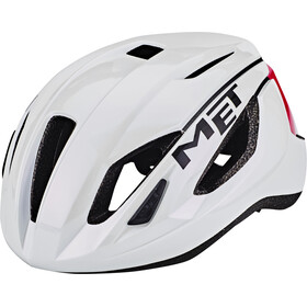 MET Strale Cykelhjelm, white/pink